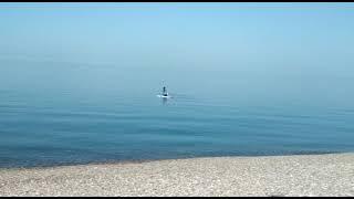 море Лазаревского +16 и полный штиль на море
