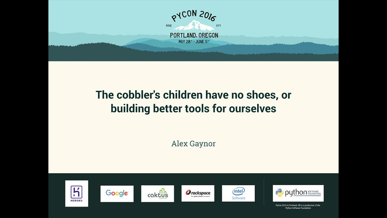 Image from The cobbler's children have no shoes, or building better tools for ourselves