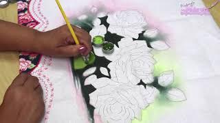 Como Pintar Rosas – Márcia Spassapan – Pintura Em Tecido