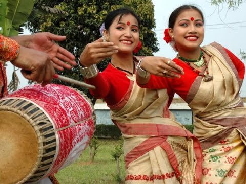 People in Assam celebrate Rongali Bihu festival with great enthusiasm.