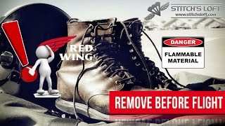 RED WING BOOTS NOT APPROVED FOR USN/USMC PILOT USE! by Stitch's Loft