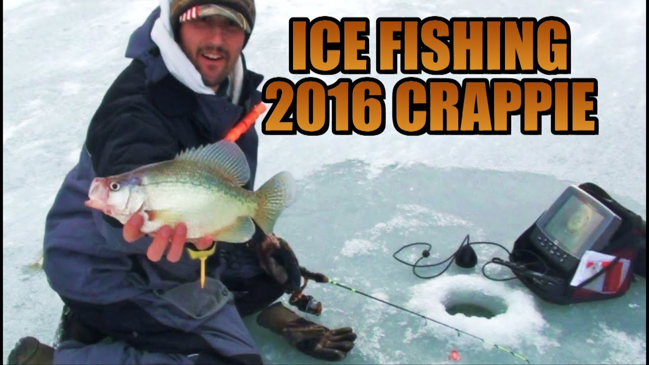 Ice fishing 2016 pa hardwater crappie fishing youtube for Pa ice fishing