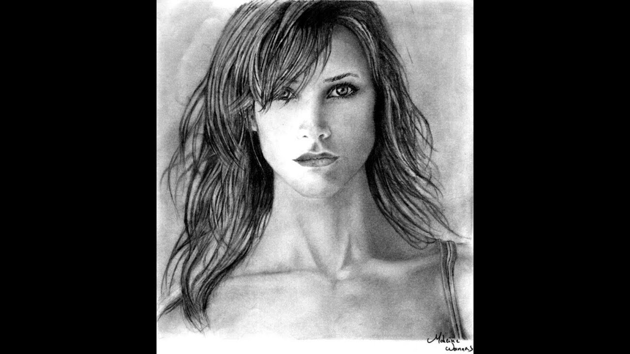 draw girl with beautiful
