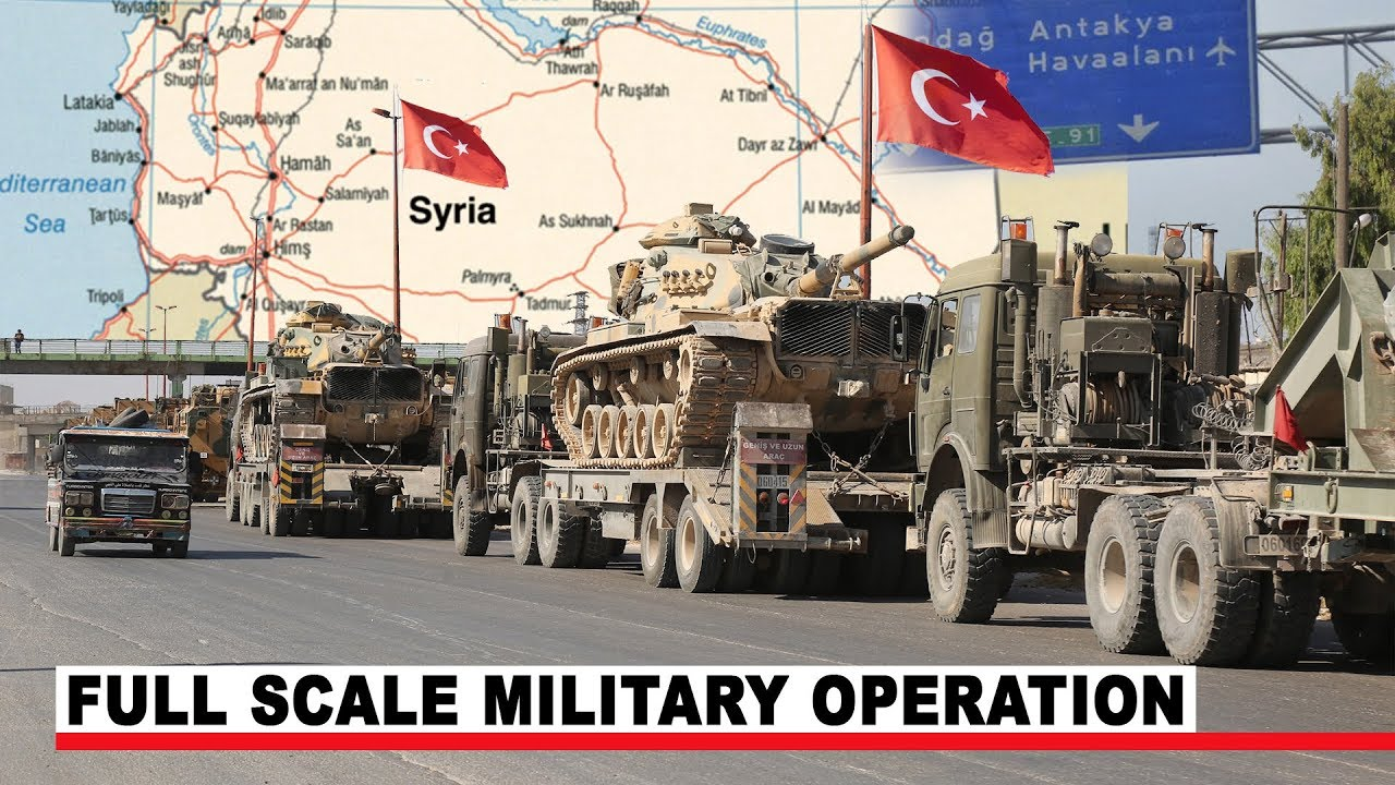 Turkey Deploys 300 Military Vehicles to Syria Amid Tension breakout