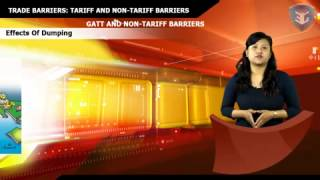 TRADE BARRIERS TARIFF AND NON TARIFF BARRIERS