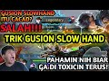 TIPS DAN TRIK GUSION SLOW HAND - KATA SIAPA GS YG SLOW HAND ITU CUPU?  - TUTORIAL BERMAIN GUSION