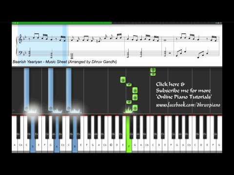 Iss Dard-e-dil Ki Sifarish (Baarish) - Yaariyan (Tutorial/Lesson + MusicSheet + MIDI) - Dhruv Gandhi