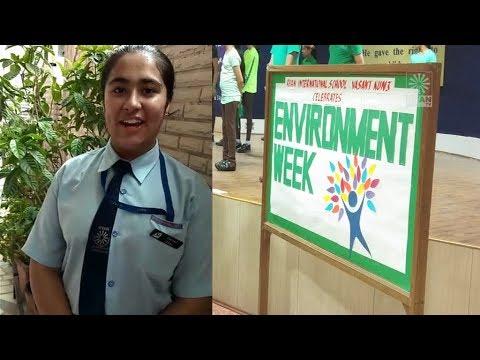 Ryan International School, Vasant Kunj, Delhi, Environment Week 2018