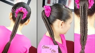 Infinity Braid | Easy Hairstyles | Braided Hairstyles | Ponytail | Sport Haistyles