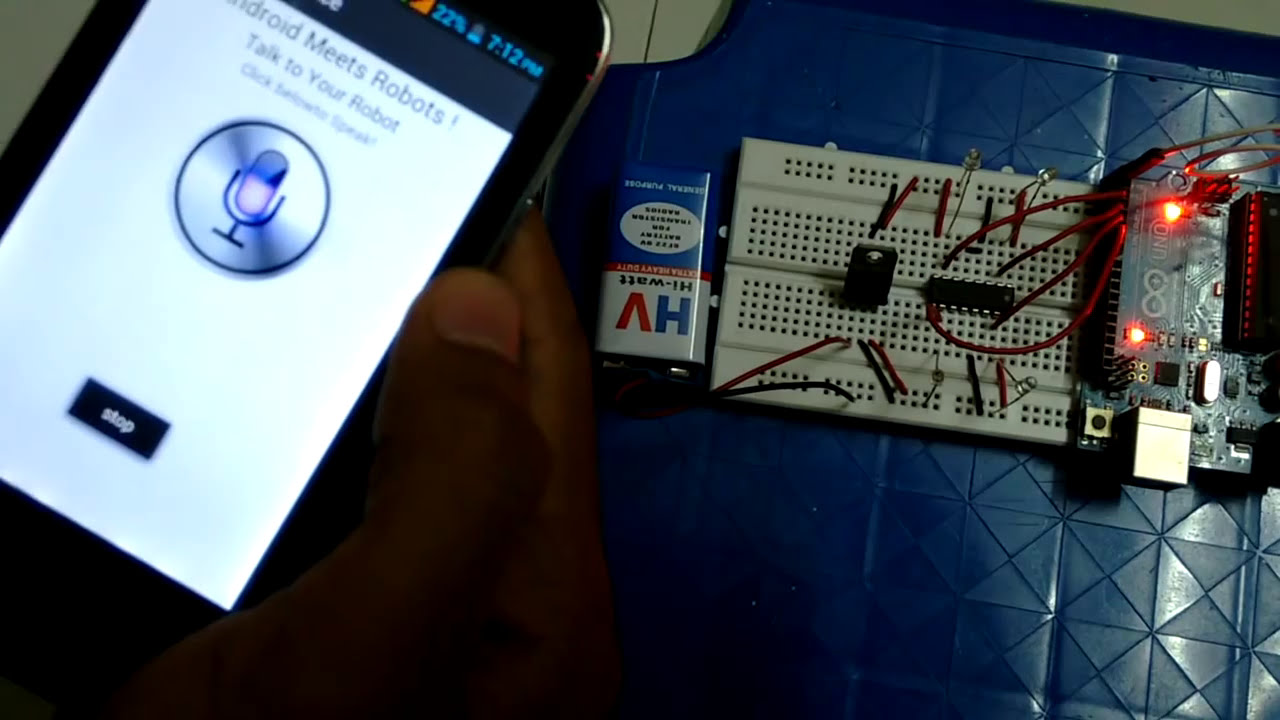 Voice Controlled Project using Interfacing of Arduino with