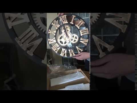 Gear wall clock openbox