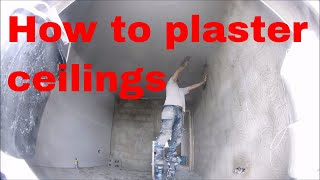 HOW TO PLASTER A PLASTERBOARD CEILING the way i do it ( beginners and DIY )