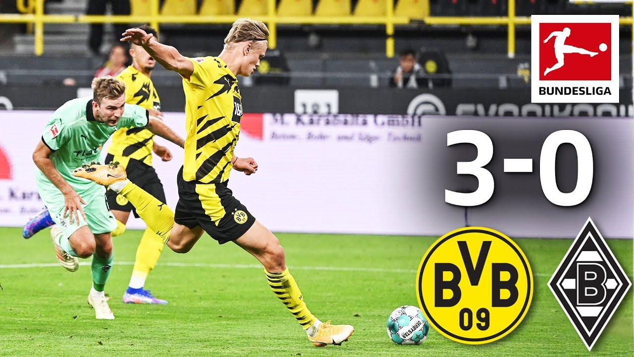 Haaland Brace Secures Victory For Bvb Dortmund M Gladbach 3 0 Matchday 1 Bundesliga 2020 21 Youtube