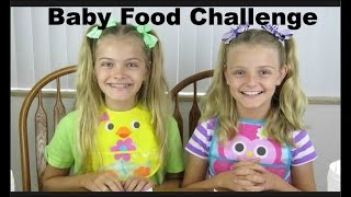 Baby Food Challenge ~ Jacy and Kacy