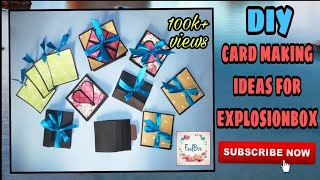 DIY card making ideas for explosion box / scrapbook | how to make explosionbox layers scrapbook page