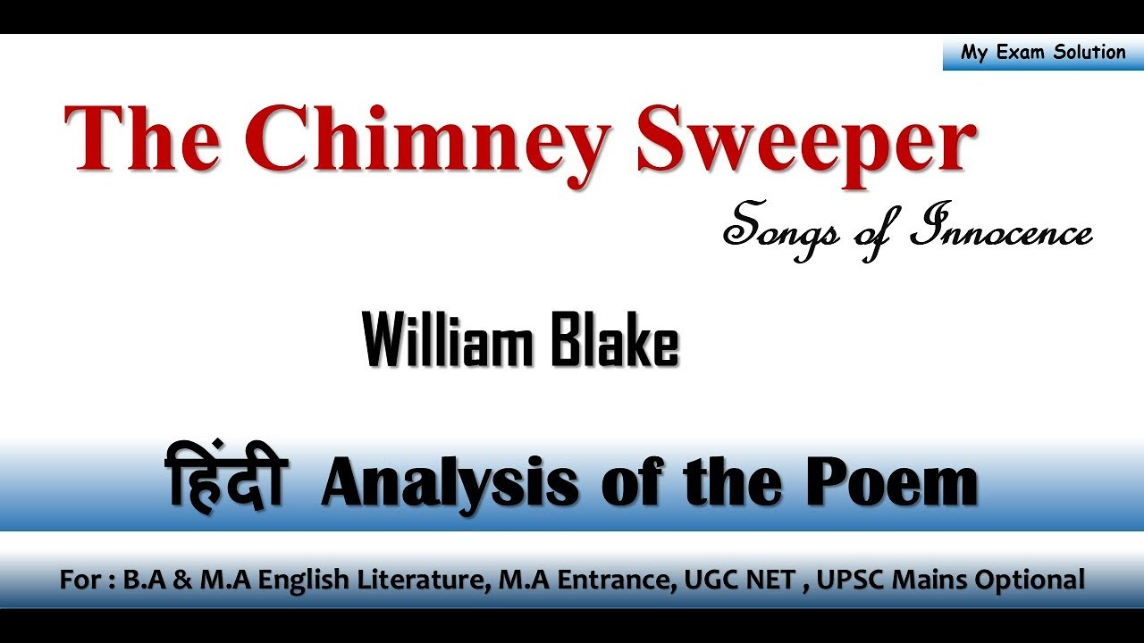 william blake the chimney sweeper innocence
