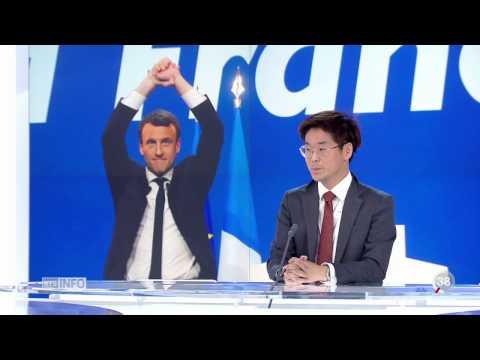 Joachim Son-Forget est l'invité de Darius Rochebin, Télé Journal du 24 avril 2017 de 19h30, RTS