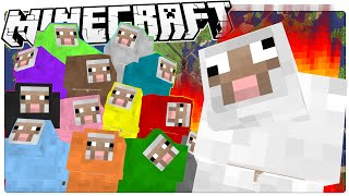 Minecraft | SHEEPS TAKE OVER MINECRAFT! | Painful Sheep Parkour Map