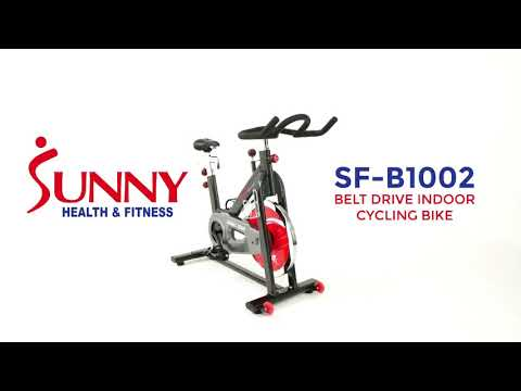 4d731880b5b Sunny Health and Fitness Belt Drive Indoor Cycling Bike