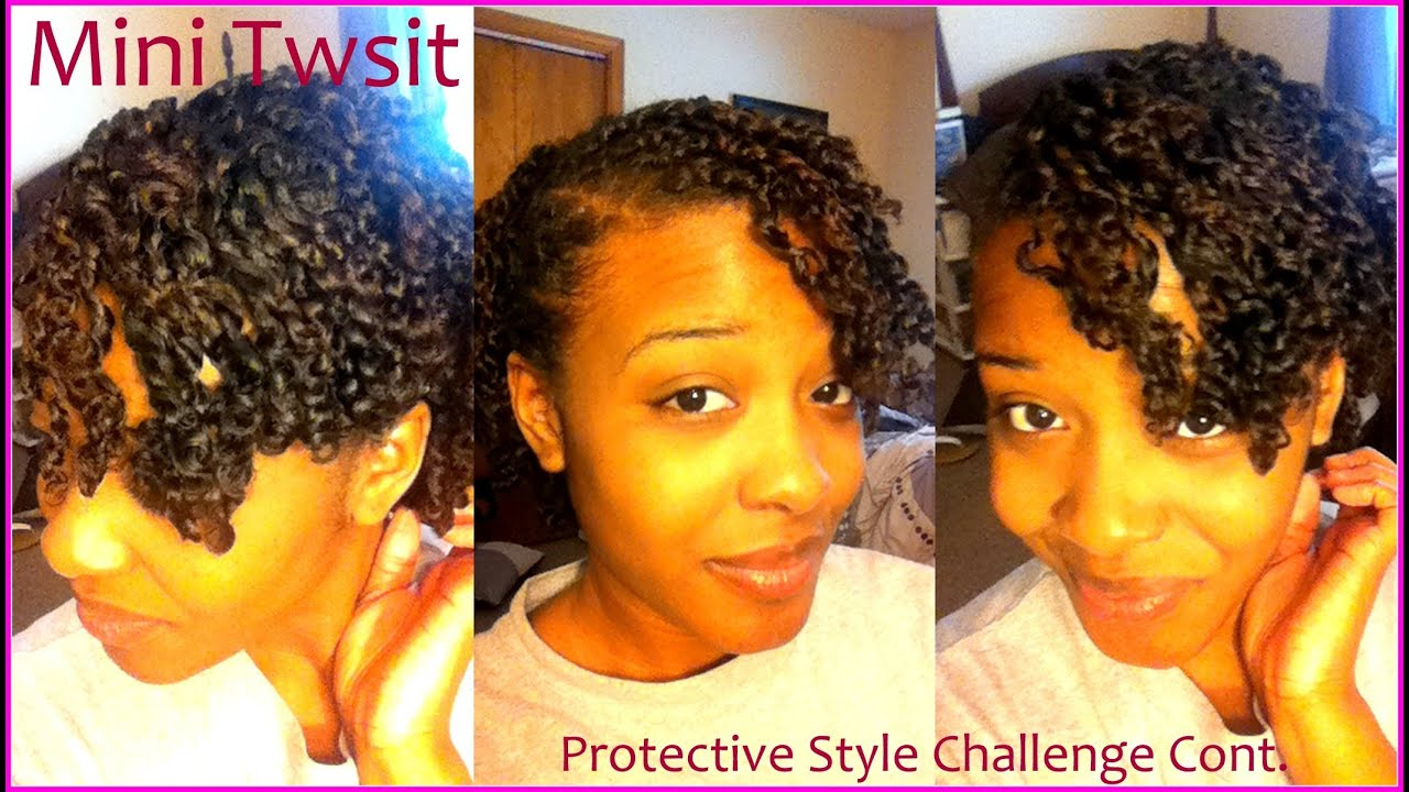 Natural Hair How to Mini Twist on Short Medium Length