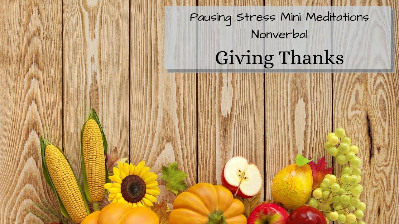 Giving Thanks: Meditation Videos