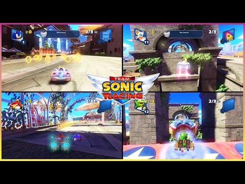 Team Sonic Racing PC Expert Grand Prix ICE MOUNTAIN Sonic vs Rouge vs DR Eggman vs Vector 4P #3 |