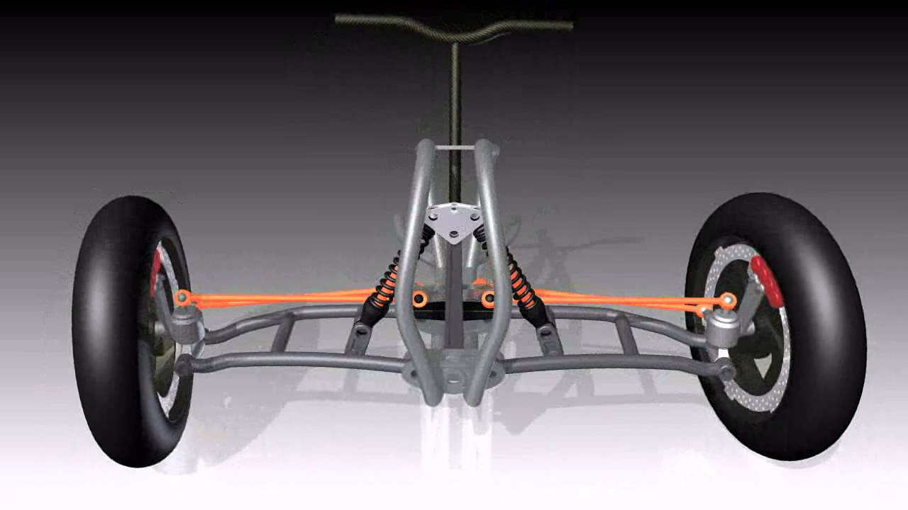 Can Am Car >> CAN AM tilting steering 3D CAD - YouTube