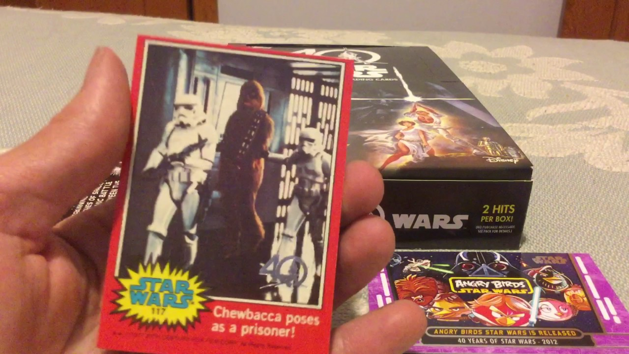 Topps star wars th anniversary hobby box opening and review
