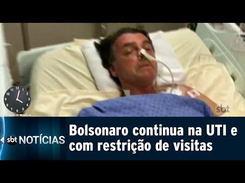 Sem previsão de alta, Bolsonaro continua internado na UTI em São Paulo | SBT Notícias (15/09/18)