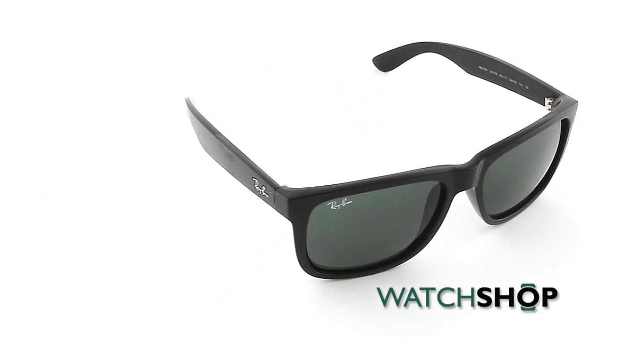 2206ac1f44cb Ray-Ban Men's Justin Classic Sunglasses (RB4165-601/71-55) - YouTube
