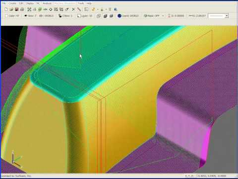 SURFCAM Tutorial - 3-Axis: 3D Offset