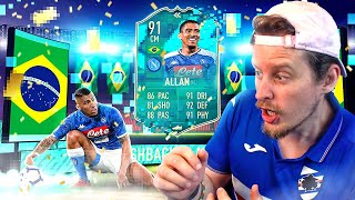 THE MOST CRACKED CM?! 91 PREMIUM FLASHBACK ALLAN PLAYER REVIEW! FIFA 20 Ultimate Team