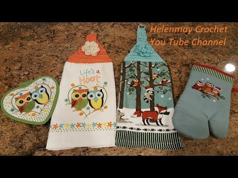 Quick Easy Beginner Life's A Hoot Crochet Kitchen Towel Topper DIY Awesome Free Crochet Towel Topper Pattern