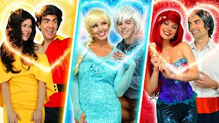 PRINCESS DATE NIGHT WITH ELSA AND ANNA, ARIEL, BELLE, RAPUNZEL, & JASMINE. Totally TV Parody.