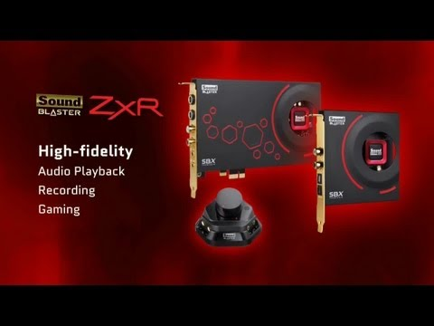Sound Blaster ZxR - The ultimate sound card in audio playback and creation solution