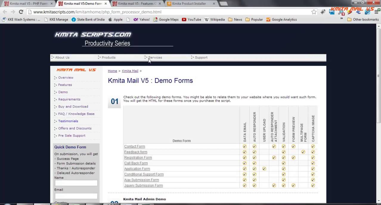 Kmita Mail PHP Form to Email Form Processor HTML Form - YouTube
