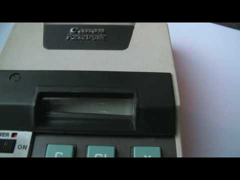 Canon Pocketronic : The First Pocket Calculator