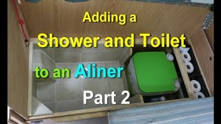 Adding a Shower and Toilet to an Aliner Part 2