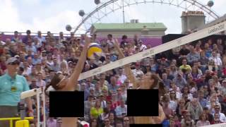 Censored Beach Volleyball