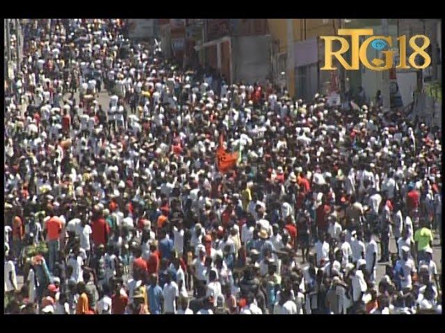 Des artistes haïtiens marchent contre le Président Jovenel Moïse