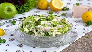Салат с бужениной и солеными огурцами