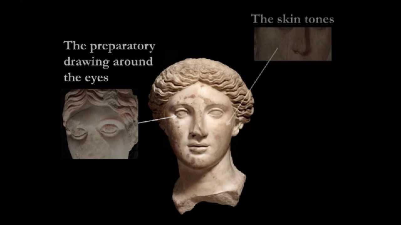 Roman Sculpture And Colour The Quot Treu Head Quot Ancient Greek