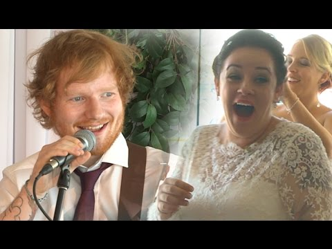 Ed Sheeran surprises the deserved wedding couple!