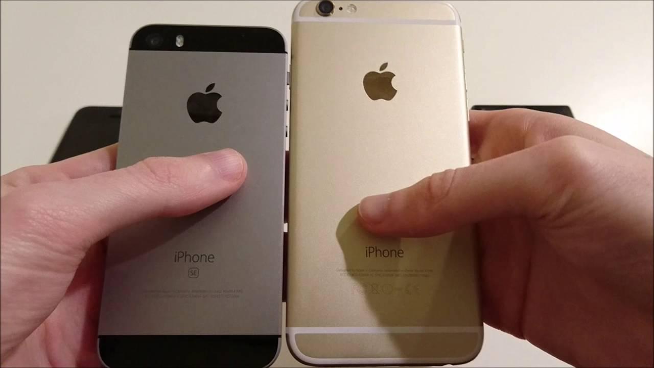 iphone 6 vs se size