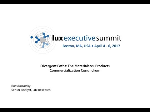 LES 2017 Americas - Ross Kozarsky, Senior Analyst, Lux Research Keynote