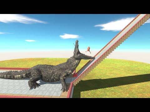 ⚡ Every Unit Falls Into Purussaurus Mouth - 🦖 Animal Revolt Battle Simulator 🦕