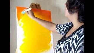 Como Pintar Un Cuadro Con Pintura Acrilica / PAINTING TUTORIAL Acrylic  For Beginners