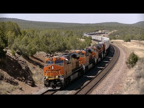 BNSF Crookton to Williams, AZ- High Speed, Meets and More!