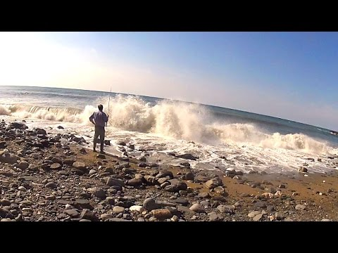 Surf Fishing on a Deserted Beach!
