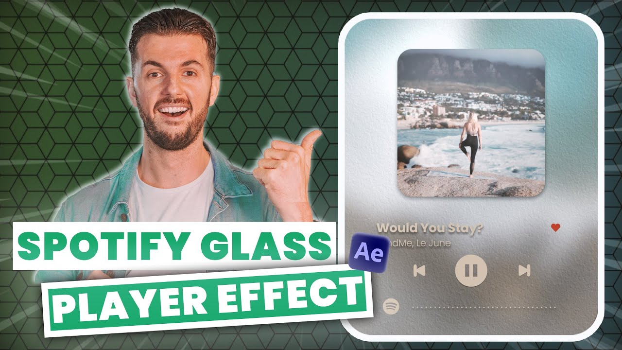 Create This AMAZING Spotify Glass Player (It MOVES with the music!)